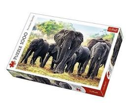 Puzzle 1000 - 1500 elementów Trefl 1000 el Afrykańskie słonie