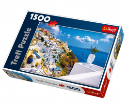 Puzzle 1000 - 1500 elementów Trefl 1500 el Santorini Grecja