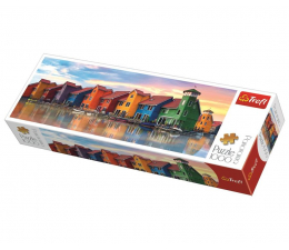 Puzzle 1000 - 1500 elementów Trefl 1000 el panorama Groningen Holandia