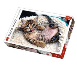 Puzzle 1000 - 1500 elementów Trefl 1000 el Wesoły kotek