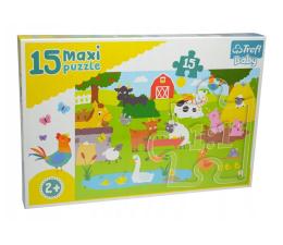 Puzzle dla dzieci Trefl 15 el MAXI Zwierzęta na wsi