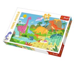 Puzzle dla dzieci Trefl 24-Maxi W świecie dinozaurów
