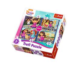 Puzzle dla dzieci Trefl 4w1 Dora i przyjaciele