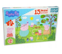 Puzzle dla dzieci Trefl 15 el MAXI Peppa w ogrodzie