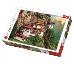 Puzzle powyżej 1500 elementów Trefl 2000 el Tygrysie gniazdo Bhutan