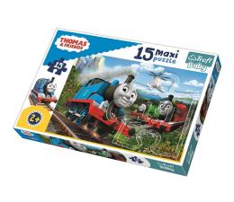 Puzzle dla dzieci Trefl 15 el MAXI Pędzące lokomotywy Tomek