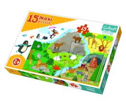 Puzzle dla dzieci Trefl 15 el MAXI Zwierzatka i ich domki