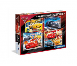 Puzzle dla dzieci Clementoni Puzzle Disney Cars 20+60+100+180 el.