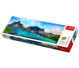 Puzzle 500 - 1000 elementów Trefl 500 el Panorama Archipelag Lofoty Norwegia