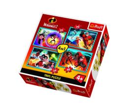 Puzzle dla dzieci Trefl 4w1 Niesamowita rodzinka Incredibles