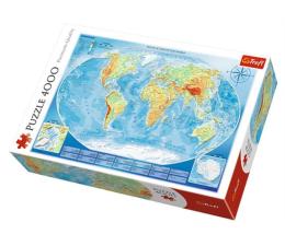Puzzle powyżej 1500 elementów Trefl 4000 el Wielka mapa fizyczna świata Meridian