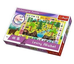 Puzzle dla dzieci Trefl 48 el edukacyjne Leśny Alfabet