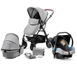 Wózek dziecięcy wielofunkcyjny Kinderkraft Moov 3w1 Grey