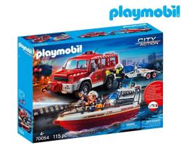 Klocki PLAYMOBIL ® PLAYMOBIL Samochód strażacki z łodzią strażacką