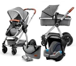 Wózek dziecięcy wielofunkcyjny Kinderkraft Veo 3w1 Grey