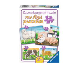 Puzzle dla dzieci Ravensburger Urocze Zwierzęta na farmie