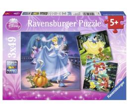 Puzzle dla dzieci Ravensburger Disney Kopciuszek, śnieżka i Ariel