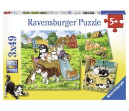 Puzzle dla dzieci Ravensburger Koty i psy