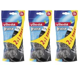 Akcesoria do sprzątania Vileda Zmywak stalowy Glitzi Spral Inox zestaw 9 sztuk