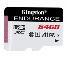 Karta pamięci microSD Kingston 64GB High Endurance 95/30 MB/s (odczyt/zapis)
