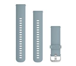 Pasek / bransoletka Garmin Pasek silikonowy turkusowo-srebrny do koperty 20mm