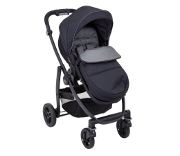 Wózek spacerowy Graco Evo Black Grey z folią i śpiworem