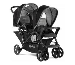 Wózek dla bliźniaków Graco Stadium Duo Black Grey