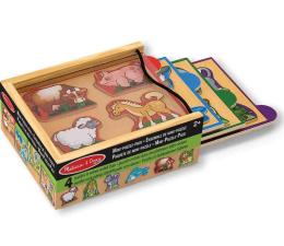 Zabawka drewniana Melissa & Doug Mini puzzle drewniane Zwierzęta