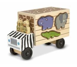 Zabawka drewniana Melissa & Doug Drewniana ciężarówka ze zwierzętami Safari