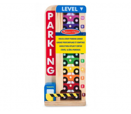 Zabawka drewniana Melissa & Doug Drewniany parking + 10 samochodów