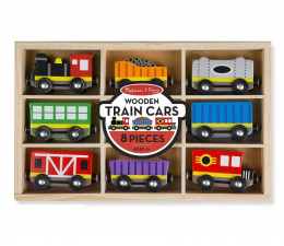 Zabawka drewniana Melissa & Doug Zestaw wagoników Train Cars