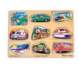 Zabawka drewniana Melissa & Doug Puzzle drewniane Pojazdy