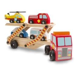 Zabawka drewniana Melissa & Doug Laweta drewniana z samochodzikami