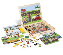 Zabawka drewniana Melissa & Doug Magnetyczna gra obrazkowa Miasto