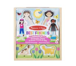 Zabawka drewniana Melissa & Doug Puzzle magnetyczne Przyjaciele