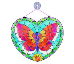 Zabawka plastyczna / kreatywna Melissa & Doug Witraż z naklejek Motyl