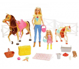 Lalka i akcesoria Barbie Stadnina koni zestaw
