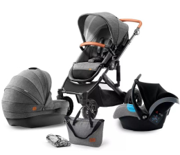 Wózek spacerowy Kinderkraft Prime 3w1 Grey