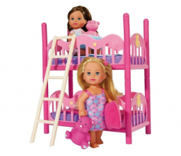 Lalka i akcesoria Simba Evi z piętrowym łóżkiem