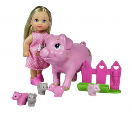 Lalka i akcesoria Simba Evi z ciężarną świnką