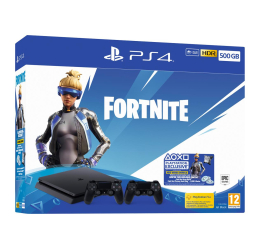 Konsola PlayStation Sony Playstation 4 Slim 500GB + Fortnite DLC + Pad