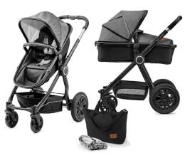 Wózek dziecięcy wielofunkcyjny Kinderkraft Veo 2w1 Black/Gray