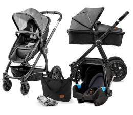 Wózek dziecięcy wielofunkcyjny Kinderkraft Veo 3w1 Black/Grey