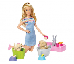 Lalka i akcesoria Barbie Kąpiel zwierzątek zestaw z lalką