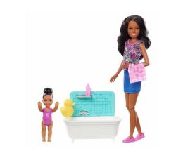 Lalka i akcesoria Barbie Skipper Zestaw Opiekunka z wanną Brunetka