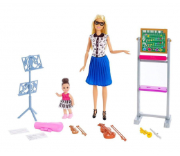 Lalka i akcesoria Barbie Kariera Nauczycielka Muzyki Zestaw