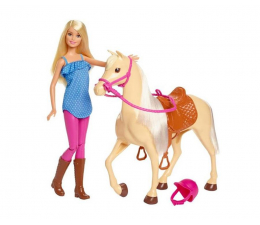 Lalka i akcesoria Barbie Lalka z Koniem