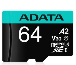 Karta pamięci microSD ADATA 64GB Premier Pro U3 V30S A2 + adapter