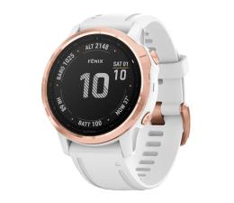 Zegarek sportowy Garmin Fenix 6S PRO różowe złoto - biały Gorilla Glass
