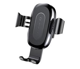 Uchwyt do smartfonów Baseus Uchwyt z ładowarką indukcyjną 10W (czarny)